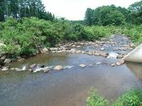 自然石が並んだ取水堰