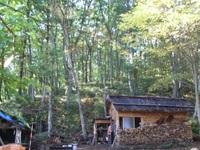 早めに到着された会員さんは、早くも松木小屋の中で盛り上がっています。。。