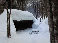 除雪後のサウンドシェルター