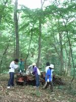 森での作業は、倒木の片づけをお願いしました。