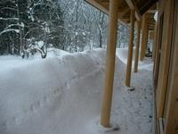 軒下(除雪前)