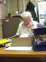事務所でのリチャードさん