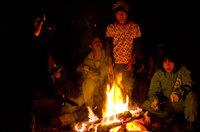 復興心の森 たき火
