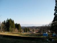 アファンセンターの事務所から見える志賀の山並み
