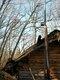 松木小屋の煙突