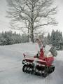 今朝も働いた除雪機